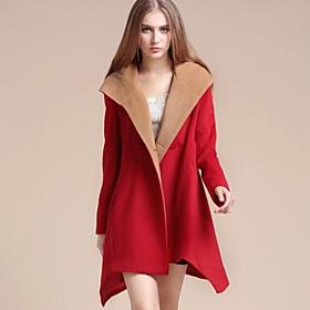 abrigo capa con capucha de las mujeres