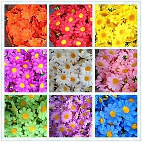 50pcs 4cm 10Colors Artificial Silk Sun Flower Daisy Head Wedding Birthday Party Favors Decorations Table Centrepieces