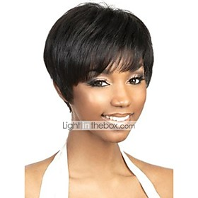 Capless Short Black Human Hair Wigs
