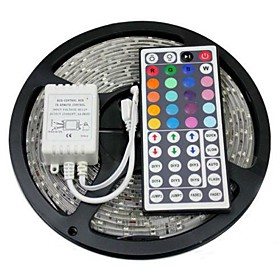 IR Remote Control Box Kit 24 Key DC12-24V 16 Colors 4 Lighting Modes Adjustable Brightness Speed for 5050 3528 LED RGB Multi-color Strip Light with Remote Control DC Cable