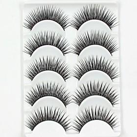 New 5 Pairs European Sytle Natural Black Long Thick False Eyelashes Party Eyelash for Beauty Makeup