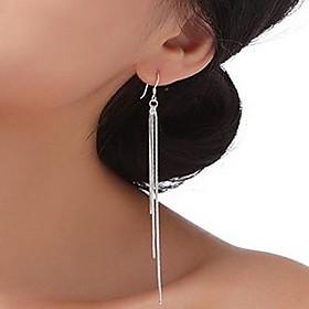 Women's Long Drop Earrings Sterling Silver Earrings