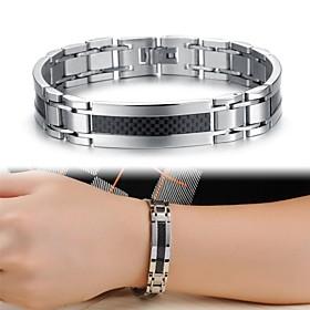 Cool Man Texture Titanium Steel Bracelet Jewelry Christmas Gifts