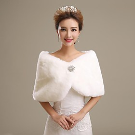 Faux Fur Wedding Shawl $11.99 AT vintagedancer.com