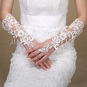 Wrist Length Glove Bridal Gloves Spring Summer Fall Winter