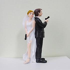 """Secret Agents"""" Bride Groom Wedding Cake Topper"""
