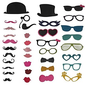 36 Piece Card Paper Photo Booth Props/Party Fun Favor Wedding 2270894