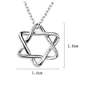 unisex zilveren hanger hexagram