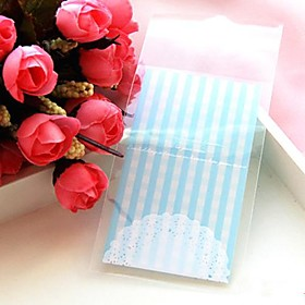 50pcs Lace Self Adhesive Cookie Bakery Candy Biscuit Jewelry Gift Plastic Bag Baby Birthday Wedding Decorations