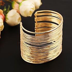 mode metalen manchet armband (goudamp;zilver)