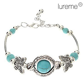 Vintage Bohemian Style Butterfly Turquoise Bracelet