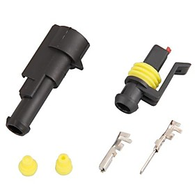 10 Kit 1.5mm Car Boat Motorcycle Bike Truck 1 Pin Way Waterproof Electrical Wire Connector Plug