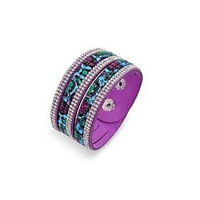 handgemaakte fluwelen armband bling strass wrap lederen armband hete boor armband