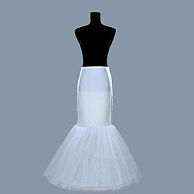 Slips Mermaid and Trumpet Gown Slip Floor-length 2 Lycra Organza White plus size,  plus size fashion plus size appare