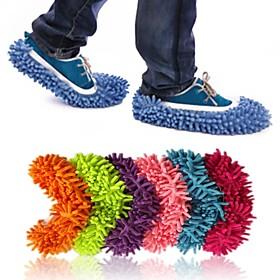 расслабленной lazyboots Зачистка покрытия уборка тапочки обуви из синели взросл