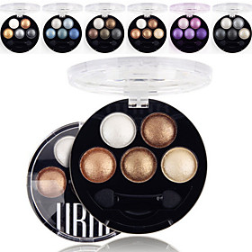 5 Colors UBUB Professional Baked 3in1 MatteGlitterShimmer Metallic Color Eye Shadow Powder Cosmetic Palette