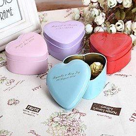 Round Square Heart Metal Favor Holder with Printing Favor Boxes Favor Tins and Pails - 24