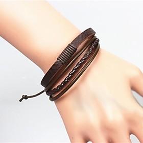 herenmode vintage leren armband sieraden