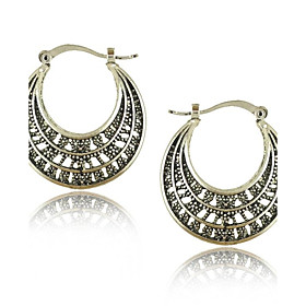 Vintage Jewelry Earrings Bohemian Tibetan Silver Earrings plus size,  plus size fashion plus size appare