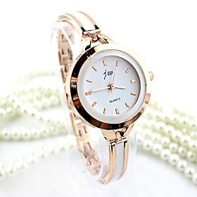 Women's Bracelet Watch Quartz Imitation Diamond Alloy Band Analog Bangle Fas..
