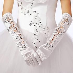 Elbow Length Glove Elastic Satin Bridal Gloves Spring Fall Winter