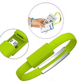 tragbare Handgelenk Armband Lade Micro-USB-Datenkabel fur Samsung s3 \/ s4 \/ htc Sony und andere (verschiedene Farben)