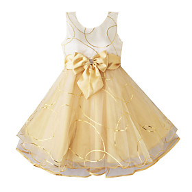 Girl's Fashion Shining Multi-layers Tulle Wedding Pageant Kids Clothes Princess Dresses