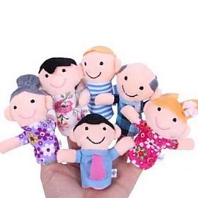 Family Members Baby Finger Puppets Baby Tell Stories Helper Stuffed Plush Dolls 2405190
