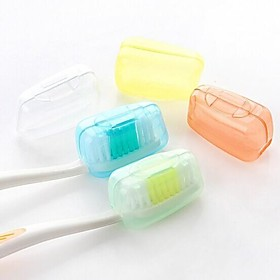 5 Pcs Travel Toothbrush Container/Protector Antibacterial for Toiletries Travel Hiking Camping Brush Cap Case 2536937