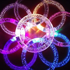 RGB-LED-blinkendes Armband Design Acryl-Party LED-Licht-Stick (zufallige Farbe x1pcs)