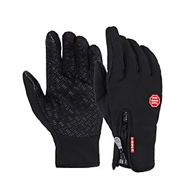 Sports Gloves Bike Gloves / Cycling Gloves / Touch Gloves Windproof / Waterproof / Keep Warm Full finger Gloves Silicon Rubber / 100% Polyester Ski / Snowboard
