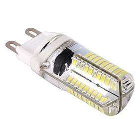 Dimmable G9 4W 80x3014SMD 400LM 6000-6500K Cool White Light LED Corn Bulb (AC 110-130V)
