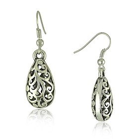 Ethnic Vintage Tibetan Silver Carving Drop Earrings Vintage Jewelry Earrings