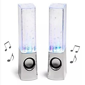 Discount Electronics On Sale Dancing Water Show Music Fountain Light Computer Speaker for PC Laptop 2.0 (Pair)