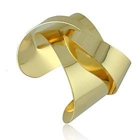 punk luxuriose Legierung offenen Armband (1 Stuck, golden \/ silber)