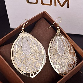 Women's Drop Earrings Earrings Drop Statement Ladies Oversized Jewelry Gold / Silver For Party Special Occasion Birthday Daily