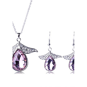 Women's Fashion Crystal Drop Jewelry Sets Including NecklaceEarring(More Col..