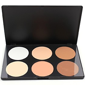 6 Highlighters/Bronzers Dry Powder Concealer Face