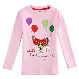 camiseta floral camiseta de dibujos animados de color rosa camiseta de la muchacha para perro lindo muchacha camisas de impresi?e camisetas de los