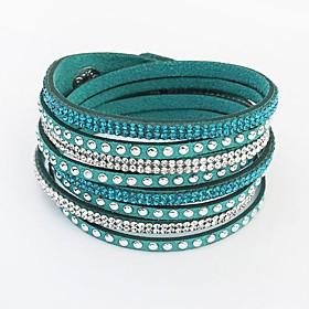 Europese stijl mode wilde lange lederen armband