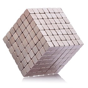Magnet Toys 343Pcs 5mm Magnet Toys / Neodymium Magnet Executive Toys Puzzle Cube DIY Toys Magnetic Balls Silver Education Toys For Gift