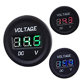 Automobile Motorcycle DC 12V to 24V LED Digital Voltmeter