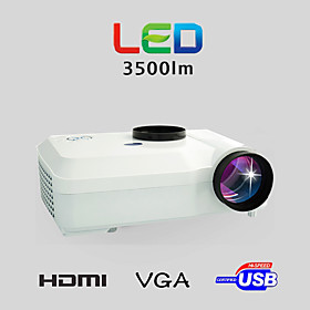 LED Projector Home Theater and Business 3500LM 1280x800 with VGA USB SD HDMI Input