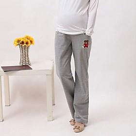 de dibujos animados de maternidad pantalones de ch?al las mujeres embarazadas pantalones casuales o pantalones de desgaste hogar