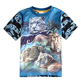 t-shirt manches courtes t chemise été des enfants pour les garçons bébé 3d impression de bébé tigre t-shirt garçons tees
