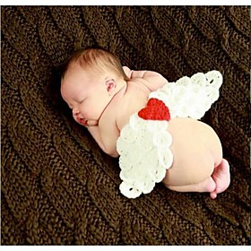 1 pcs baby's Photography Props Newborn Lovely Angel Wings handmade Crochet Knit for 3-12 month