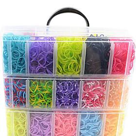 12000pcs colorati diy colore dell'arcobaleno stile telaio braccialetti fascia in silicone 12000pcsbands, 12s-clip, 1 telai, 1hook  1box