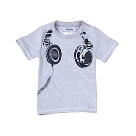 Boy's Contracted Printed Headphones Short Sleeve Tees