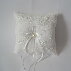 Ivory Square Ring Pillow With Ribbon 2652266