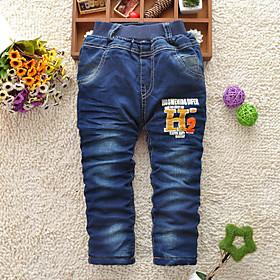 pantalones de algod??gruesas del muchacho